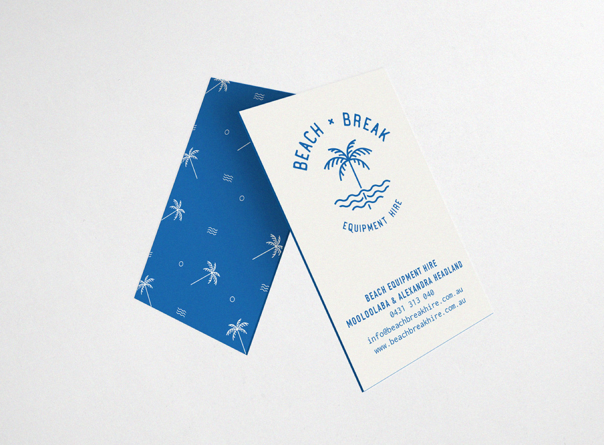 Beach Break business card design