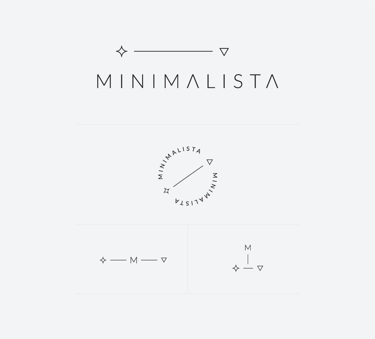 Logo design and logo submarks for Minimalista