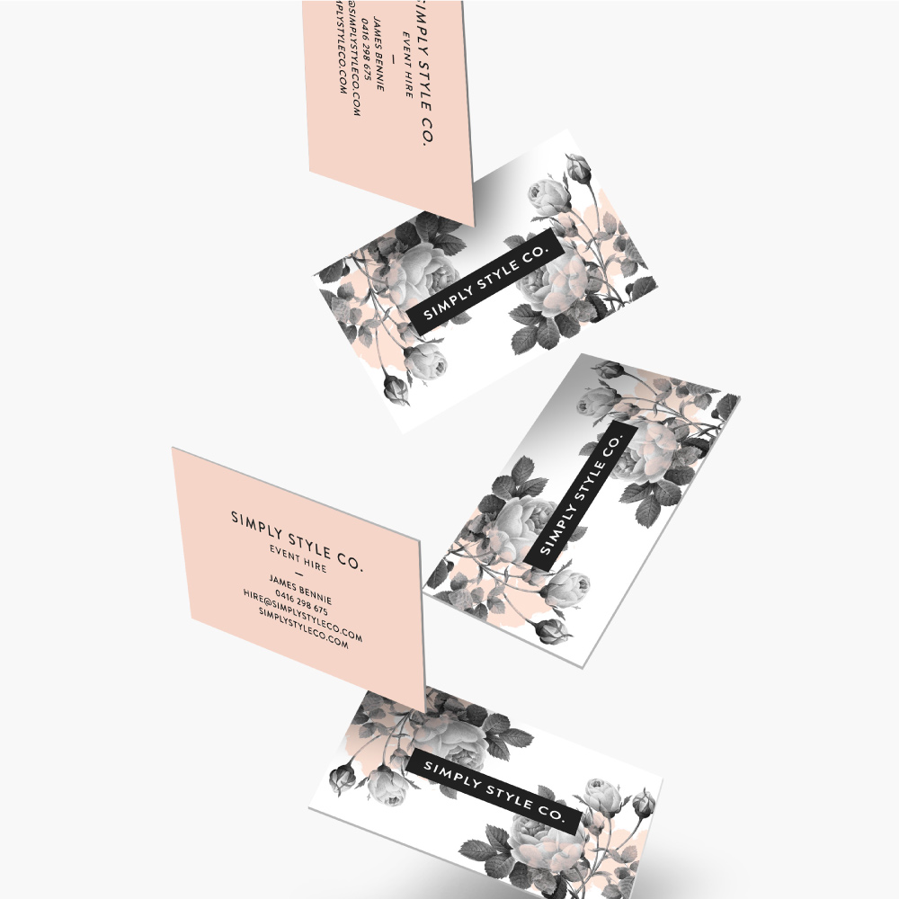 Simply Style Co business card design