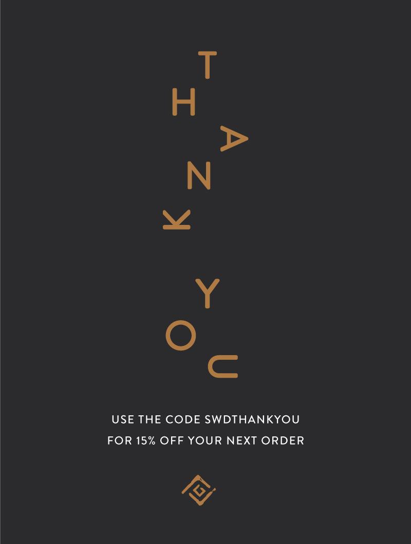 'Thank you' Social media graphic design