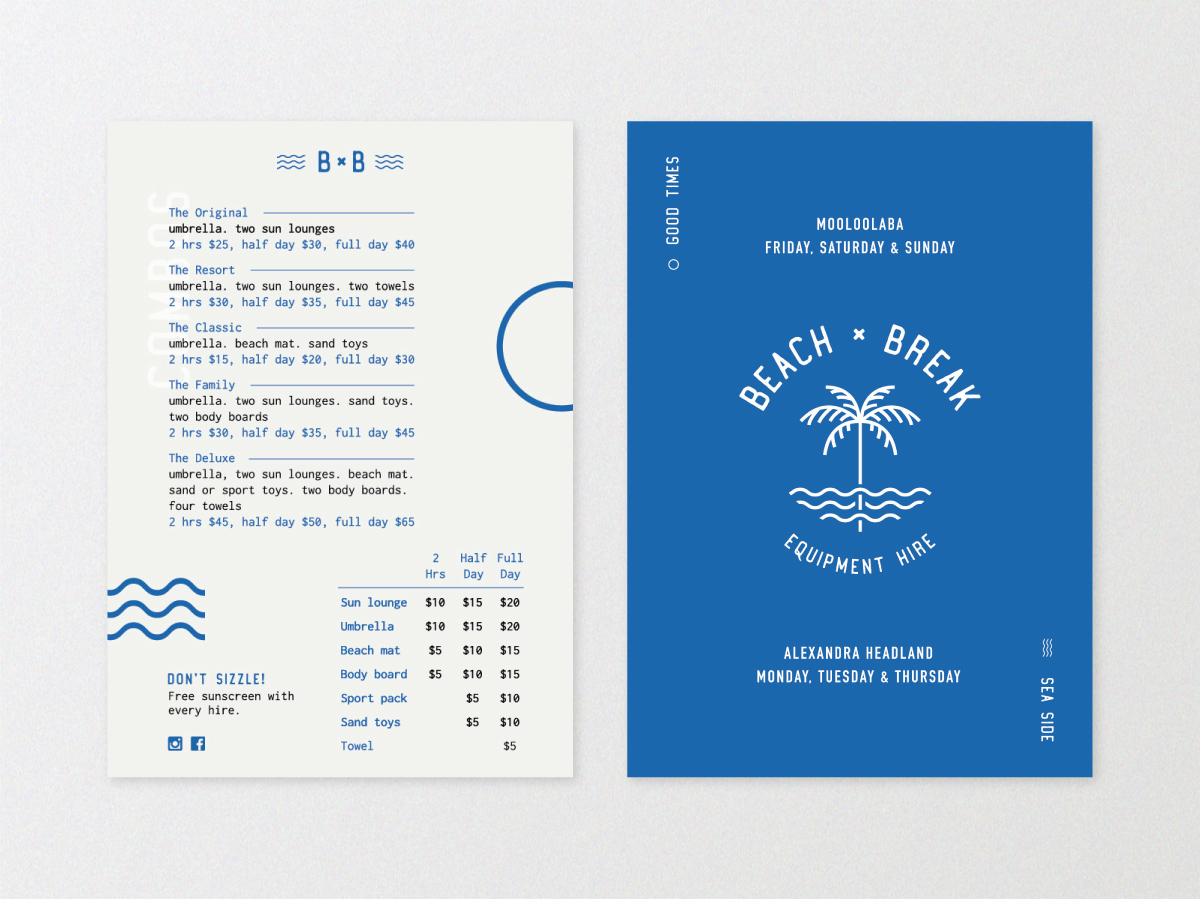 Postcard design for Beach Break