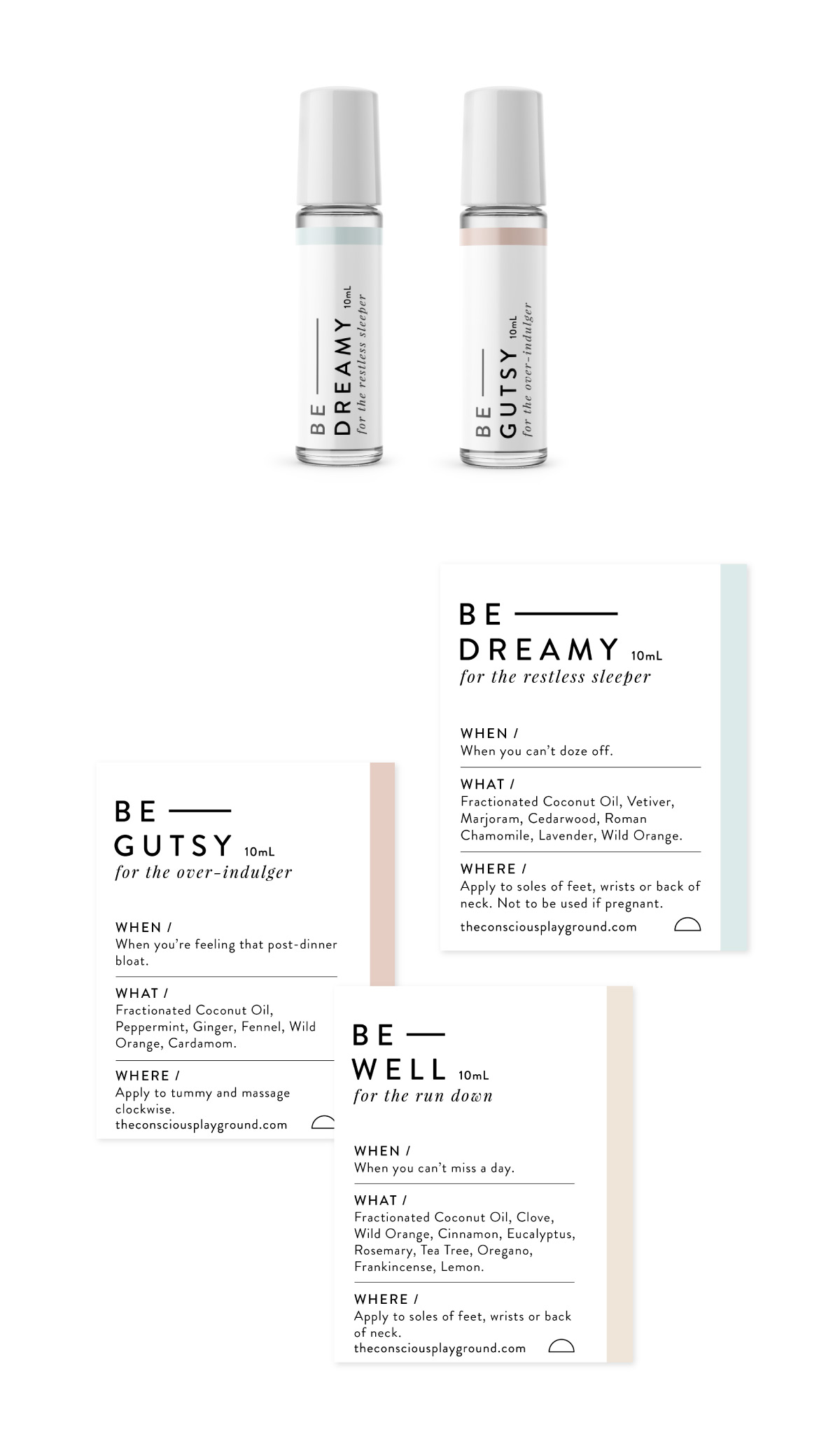 Essential oil rollerball packaging design