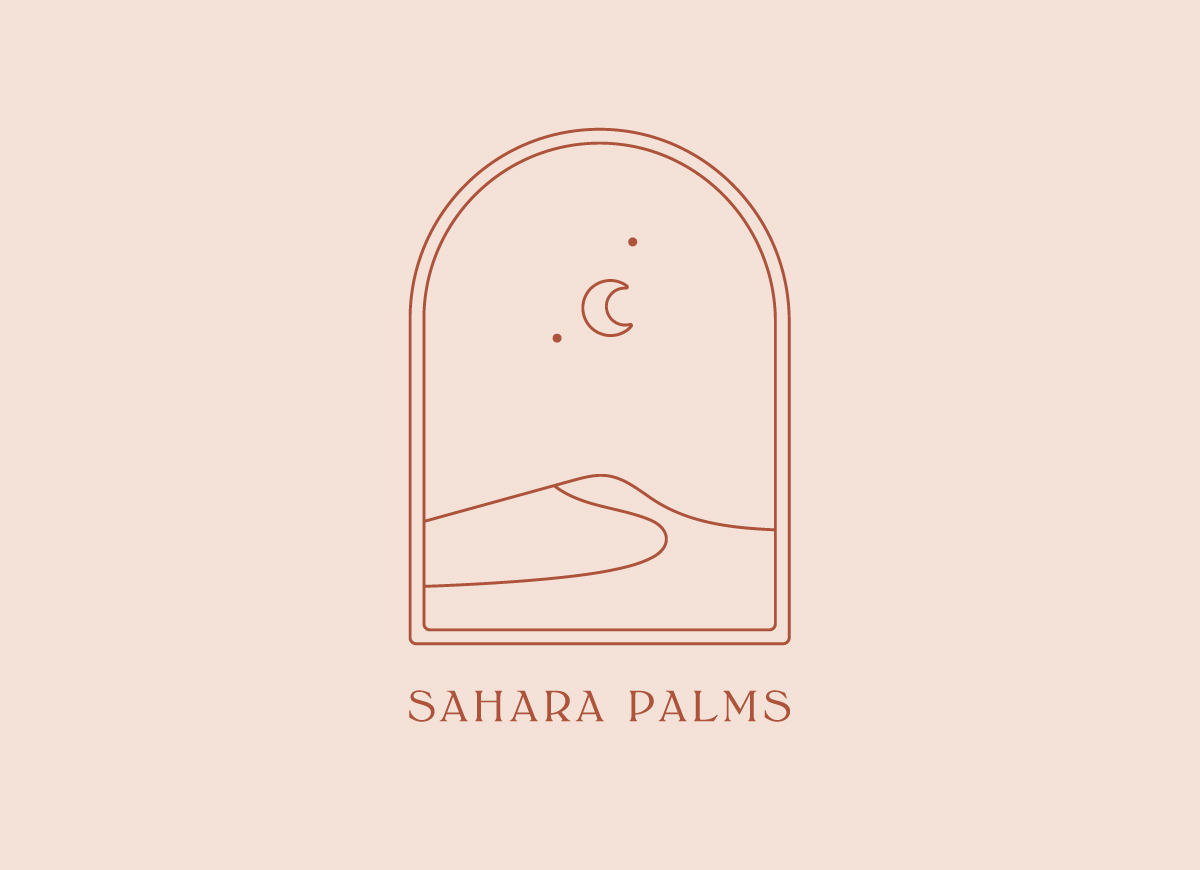 Sahara Palms logo design by Now or Never Design