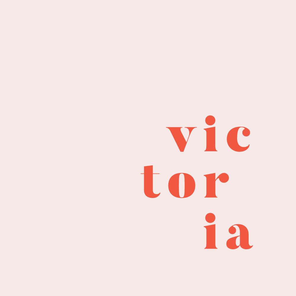 Victoria Gunn logo submark design by Now or Never Design