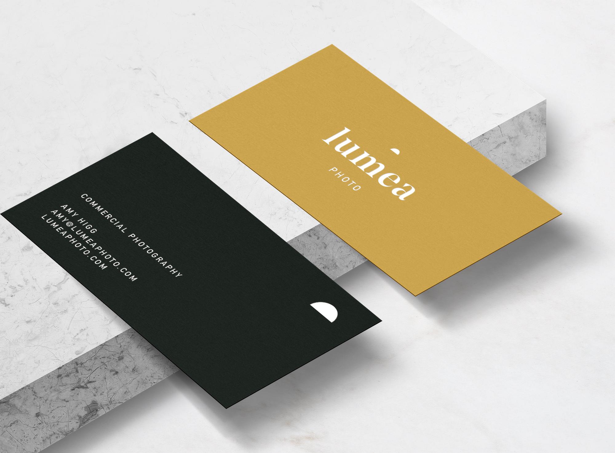 Business card design for Lumea Photo