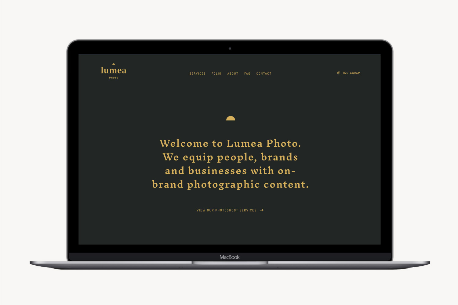 Website Design for Lumea Photo by Now or Never Design