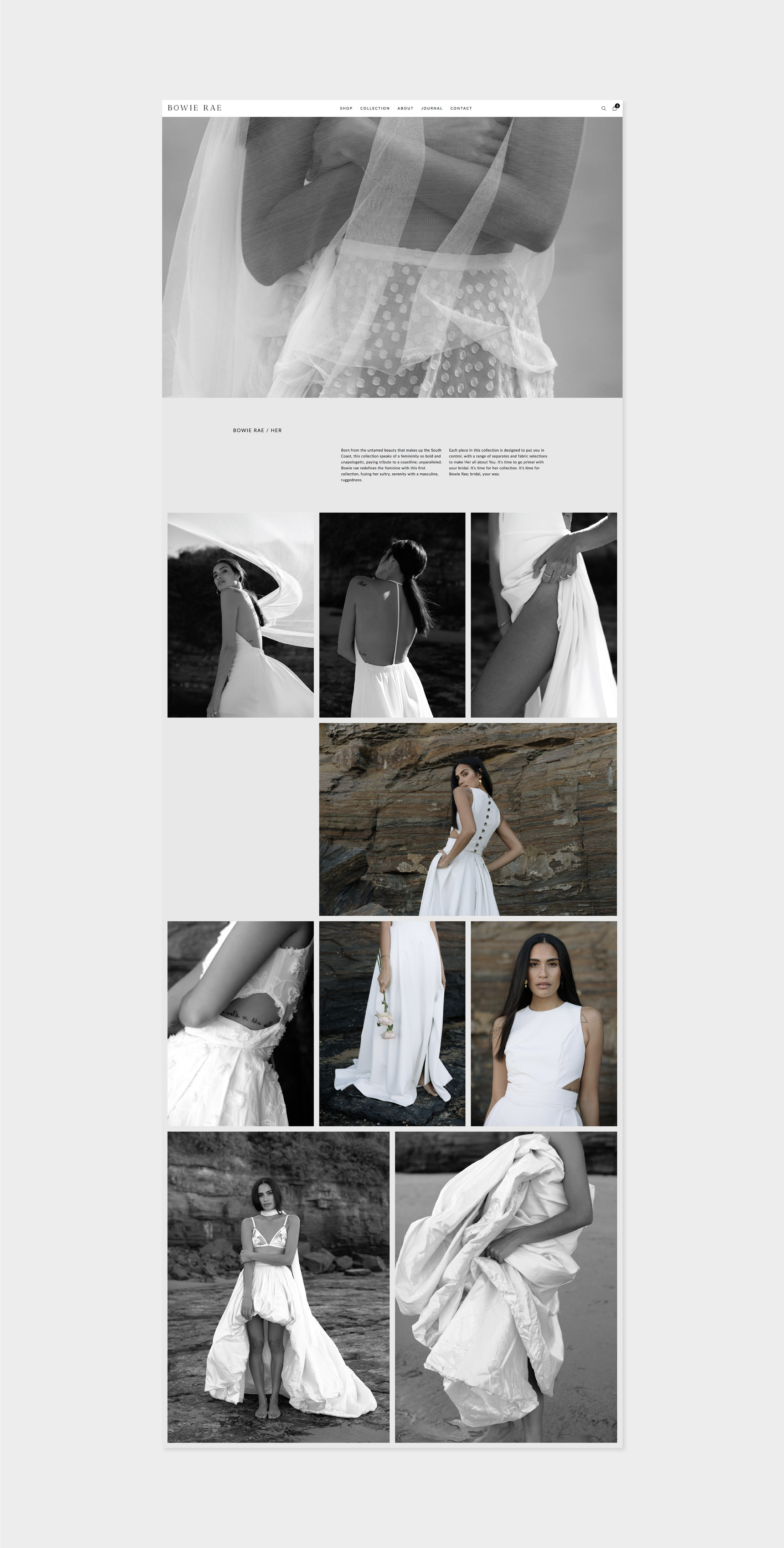 Bowie Rae Alt Bridal Collection website design