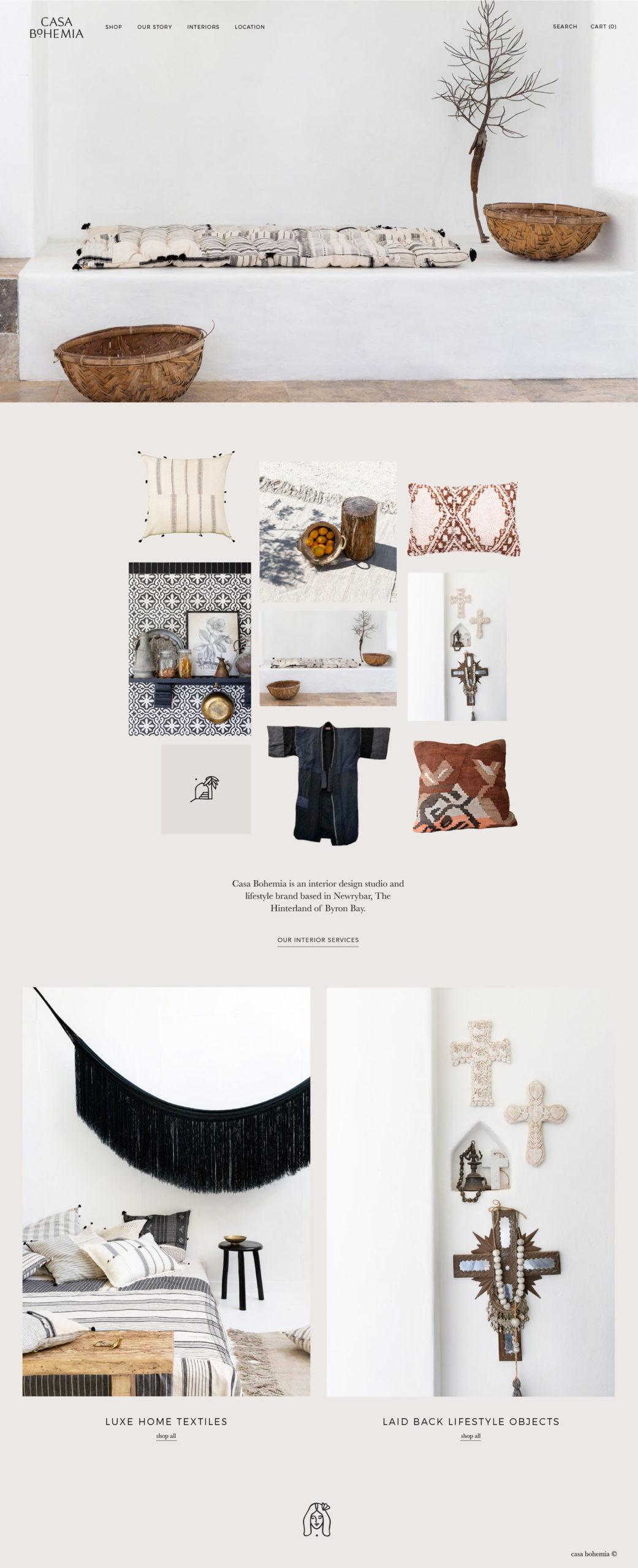 Casa Bohemia website design