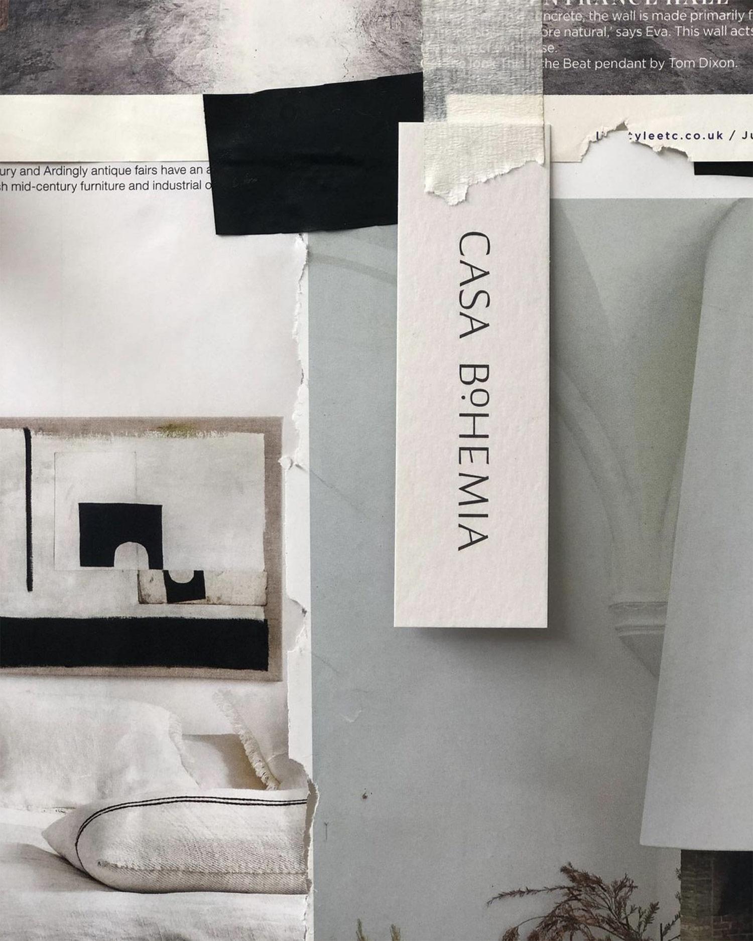 Casa Bohemia moodboard and label design