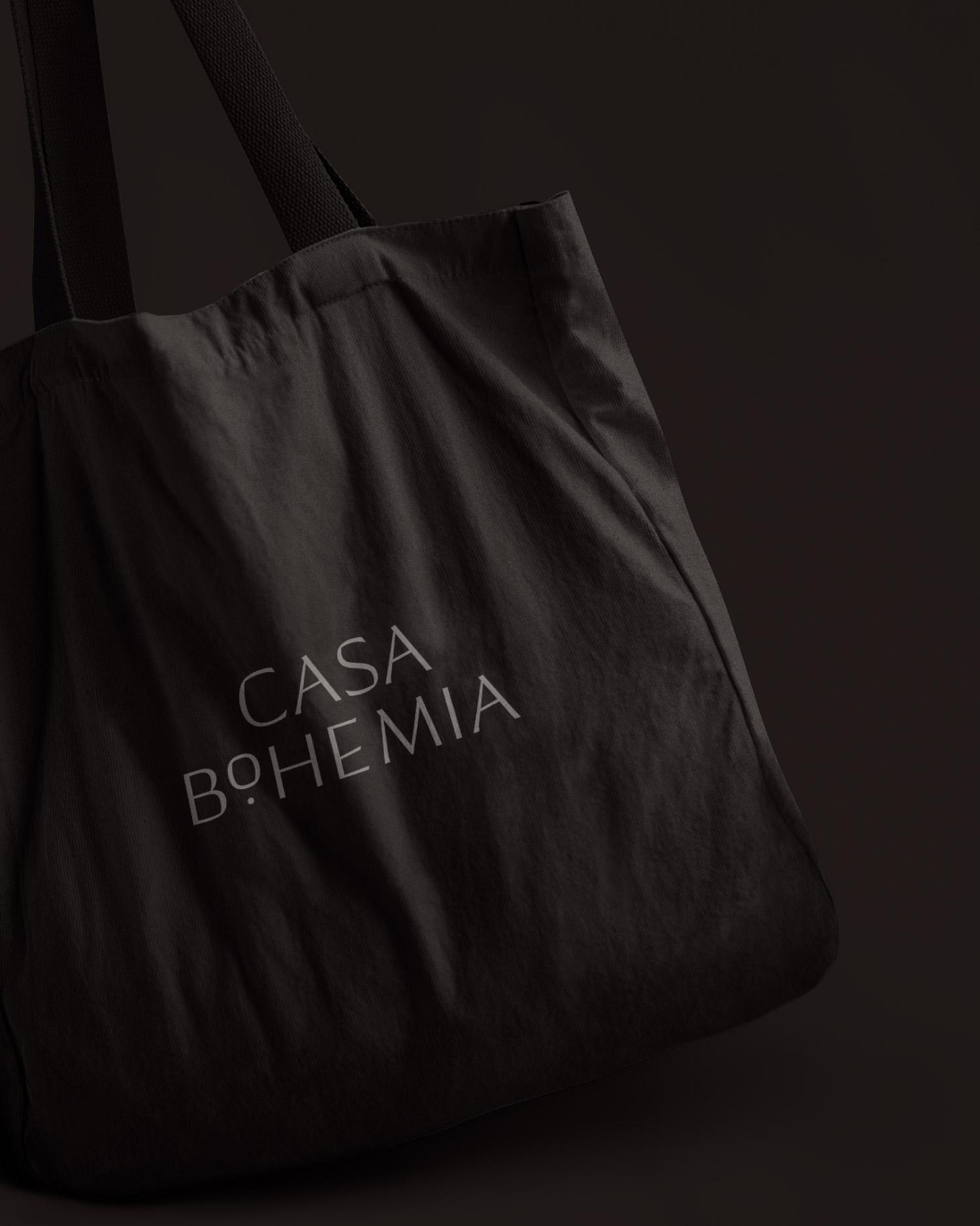 Black tote with Casa Bohemia logo